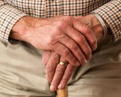 Pension persons hands