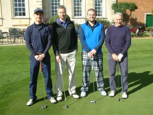 Charity golf day winners