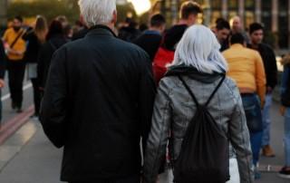 equity release couple walking