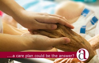 care plans elderly hands
