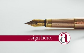 Pen to sign aLasting Power of Attorney