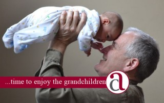 man with money and grandchild