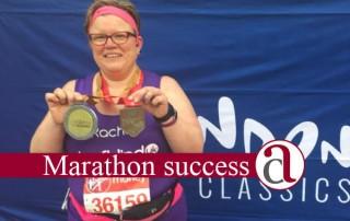 London Marathon success