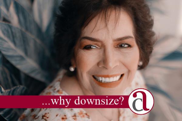 woman downsizing