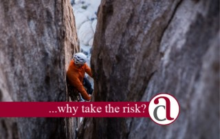 Climber taking investment risk
