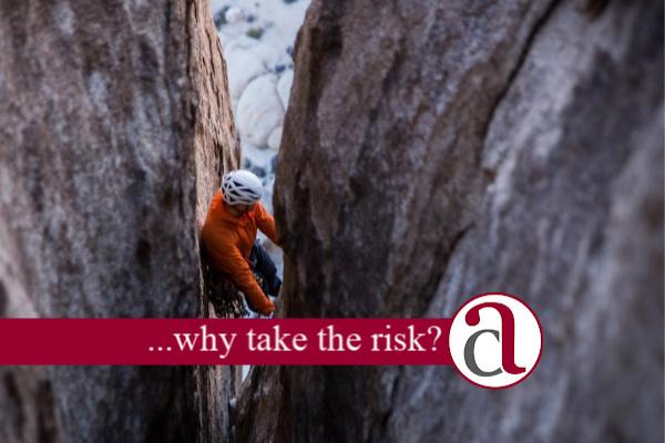 Climber taking investment risk
