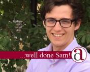 congratulations to Sam Williams