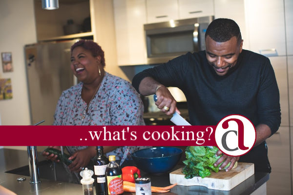 cuple retirement planning in the kitchen