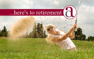 woman with good retirement plan