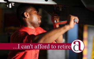 garage owner thinking about retirement plan