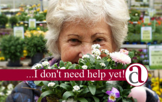 elderly woman thinking about long term care