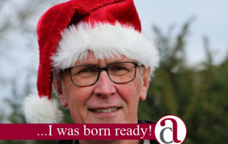man with Santa hat thinking about retirement